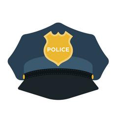 Cap policeman with a gold cockade vector