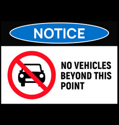 Car forbidden icon vehicle prohibited symbol sign vector