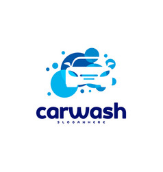 car wash logo template designs vector image