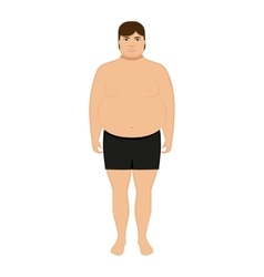 Cartoon fat man Adult big boy vector