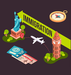 Colorful immigration from one vector
