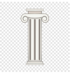 Column icon cartoon style vector