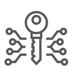 digital key line icon money and finance vector image