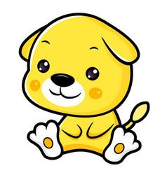 Dog character sits forward asian zodiac isolated vector