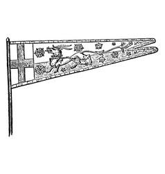England standard of henry v vintage vector