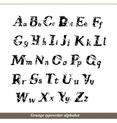 English alphabet - grunge typewritter letters vector