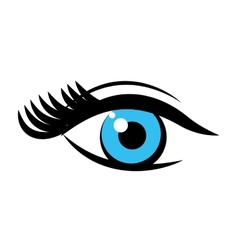 eye pop art isolated icon vector image