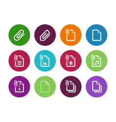 File Clip circle icons on white background vector image