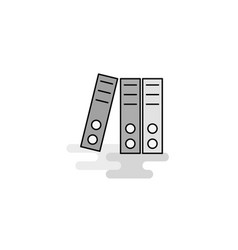 Files web icon flat line filled gray icon vector