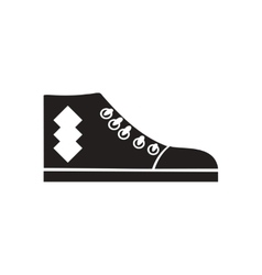 Flat icon in black and white gumshoes vector image