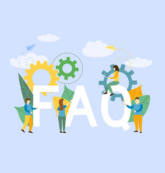Frequently asked questions business with letters s vector