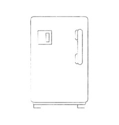 fridge kitchen appliance vector image