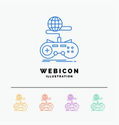 game gaming internet multiplayer online 5 color vector image