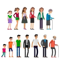 Generations woman All age categories vector