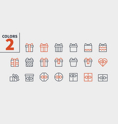 gifts pixel perfect icons well-crafted thin vector image