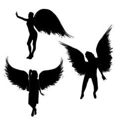 girls with wings vector image