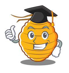 Graduation bee hive character cartoon vector