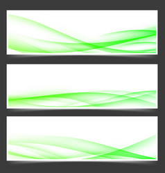 green fresh spring web header footer templates vector image