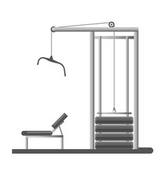 Gym or fitness sport club equipment trainer vector