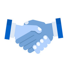handshake of business partners vector image