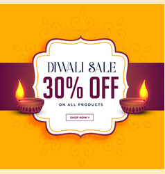 Happy diwali sale and offer template vector
