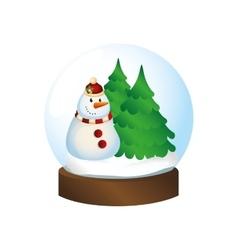 Happy merry christmas snowman card vector