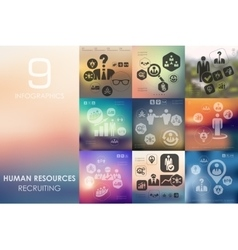 Human resources infographic with unfocused vector