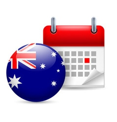 Icon of national day in australia vector image