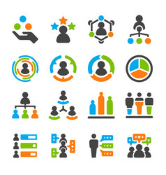 identity skill icon set vector image