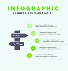Index navigation road solid icon infographics 5 vector