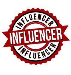 Influencer label or sticker vector