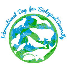International day for biological diversity arctic vector
