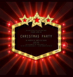 invitation merry christmas party poster vector image