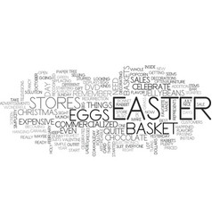 Is easter too commercialized text background word vector