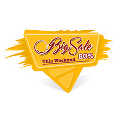 Label big sale vector