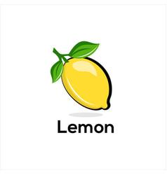 lemon fresh lemon fruits vector image