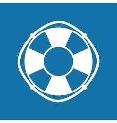 Lifebuoy Isolated on Blue vector image