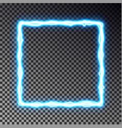light frame banner isolated on dark vector image