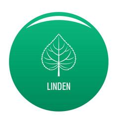 Linden leaf icon green vector