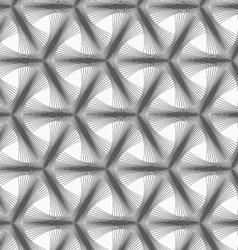 Monochrome halftone striped tetrapods vector image