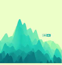 mountain landscape mountainous terrain vector image
