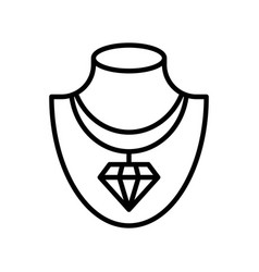 necklace isolated line style icon vector image
