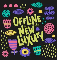 Offline lettering-05 vector