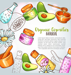 Organic cosmetics hand drawn spa and vector