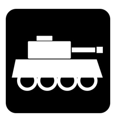Panzer symbol button vector image