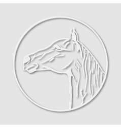 Papery logo emblem template mascot symbol of horse vector image