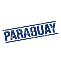 Paraguay blue square stamp vector