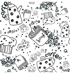 Pattern Coffee Pause vector