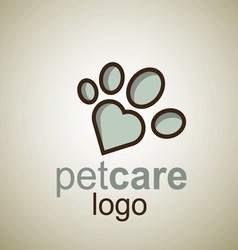 pet care logo 11 vector image