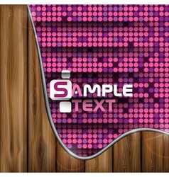 Pink Mosaic Background vector image vector image